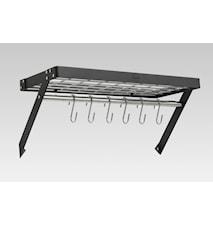 Hahn Premium vegghylle 60x28x4 cm Svart stål