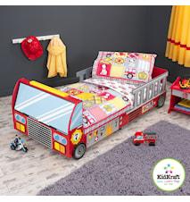 Fire truck barn sängkläder