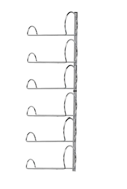 Pisa Wall Vinstativ 6 Flasker Krom