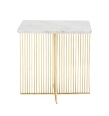 Ellis Sidetable, White, Marble