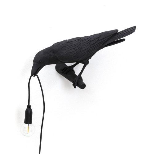 Bird Lamp Looking - Svart