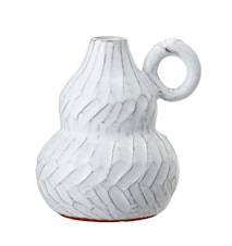 Dahlia Dekorationsvas Terrakotta Vit 12,5cm