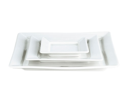 Quartet tallrik flat vit, 11 cm