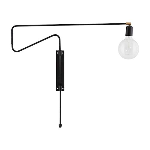 Swing Vegglampe Svart 70 cm