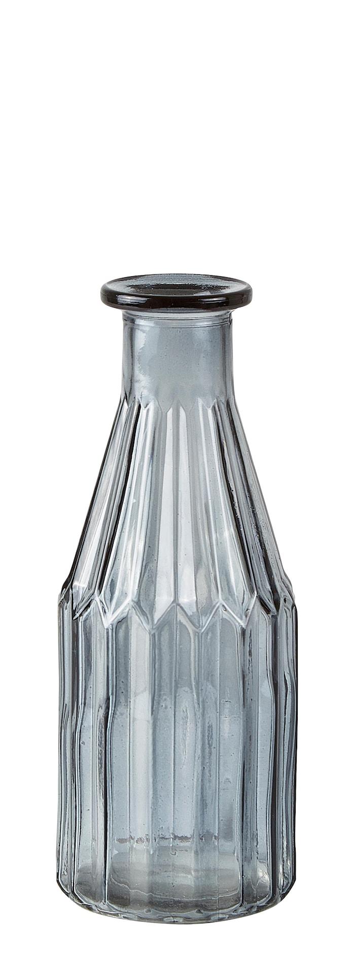 Vase - Glas - Røgfarvet - D 8,0cm - H 20,0cm - Stk.