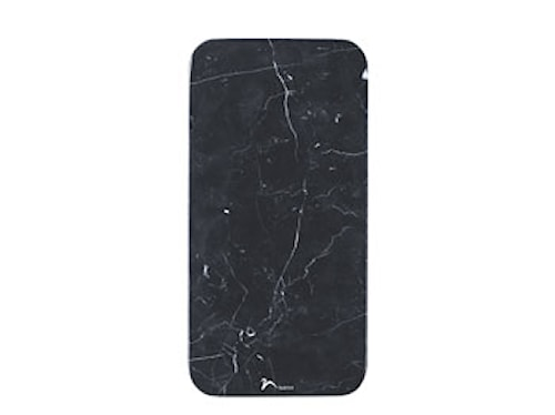 Serveringsfat 30x15x1 cm svart marmor
