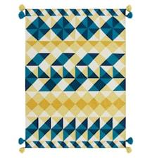 Mosaiek kilim ullteppe - gul