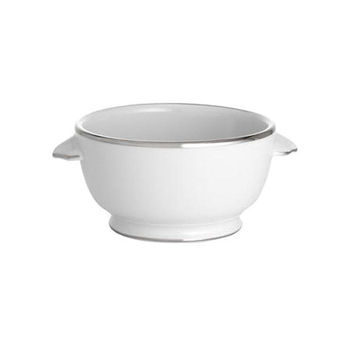 Bistro skål hvit/sølv 40 cl