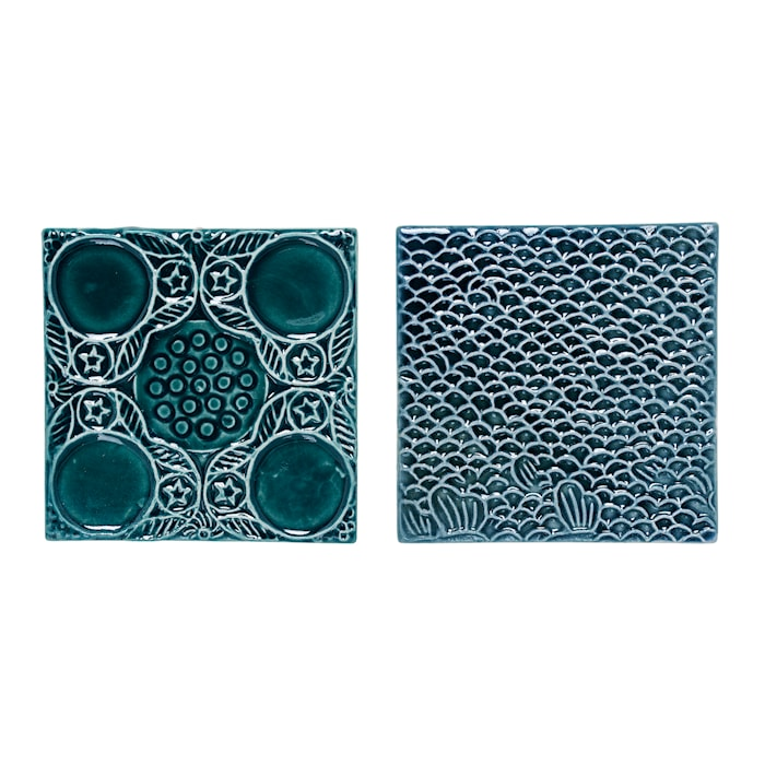 Koristelätkä Vihreä Kivitavaraa 10,5x10,5 cm Lajittelematon Kappalettain