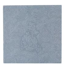 Papperservett Uni Lace Blå