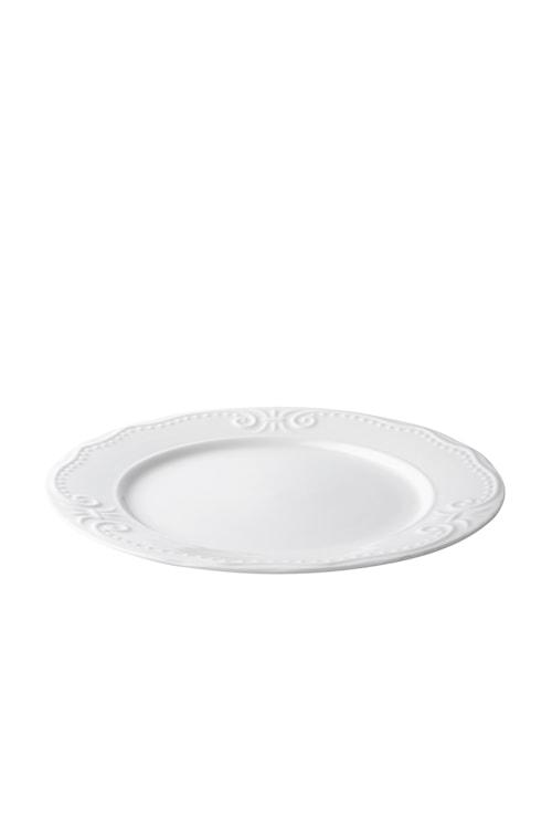 Middagstallerken - Rosa - Porcelæn - Creme - Relief - D 27,0cm - Stk.