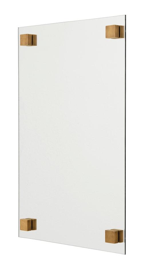 Kvadratisk spegel 60x40 cm - Mässing