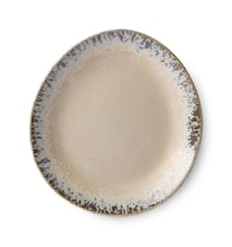 70's Keramik Assiette Beige