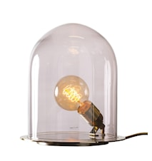 Glow in a dome medium silver bordslampa