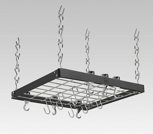 Hahn Premium Takhängare 50x50 cm Svart stål