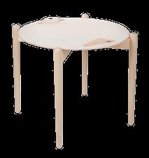 Bakkebord i træ, d65 h58