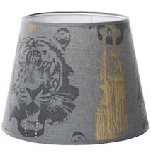 Coco tiger lampeskærm - Grey