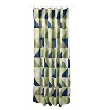 Dusjforheng Gråfisk Polyester 180x200 cm