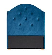 Sänggavel sammet blå