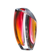 Mirage Grå/Röd Vas 21 cm