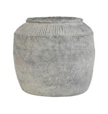 Blomkruka L Cement Grå 29cm