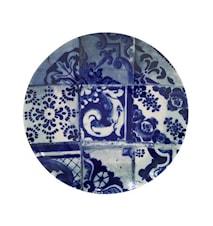 Lisboa tallerken flad kakel blå - 29 cm