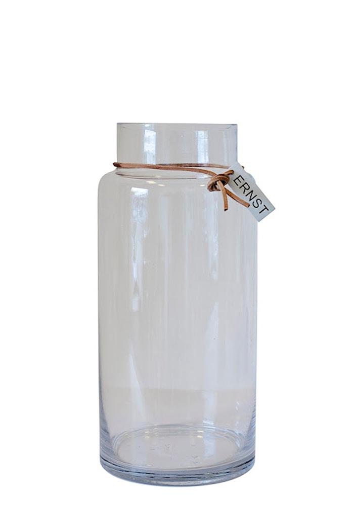 Glassvase, D11,5 H33