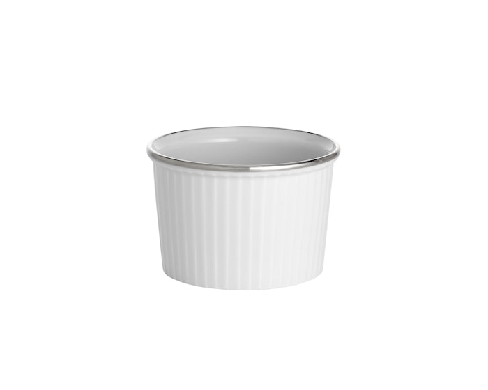 Bistro ramekin høy nr. 1 hvit/sølv