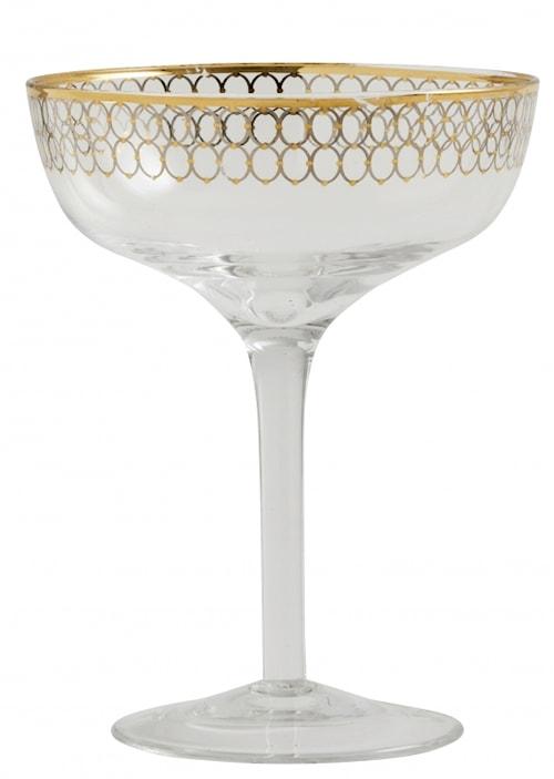 Martiniglas Gold pattern