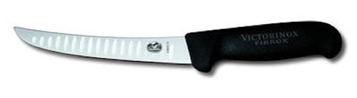 boning knife, black Fibrox, fl uted edge
