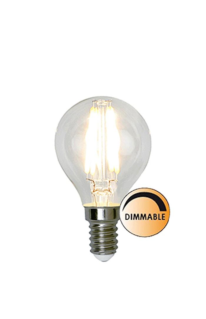 Lyskilde LED Filament Klot Klar 3,2W Dimbar E14
