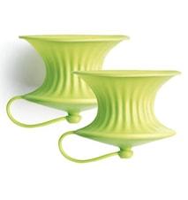 Citronpress 2 st Silikon Grön