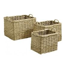 Nature storage baskets, rectangel, S/3