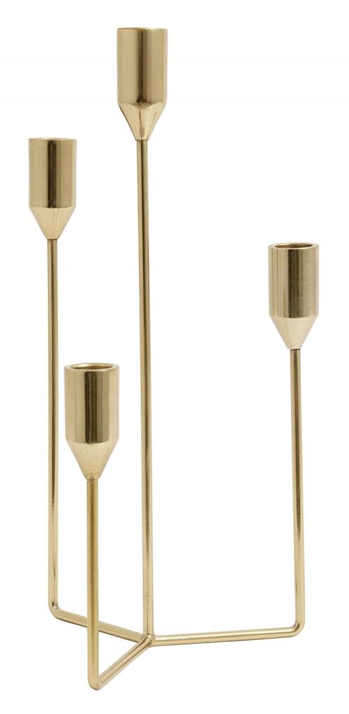 ERA candle holder, golden, f/4 candles