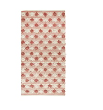 Matta 170x90 cm Dusty rose/offwhite