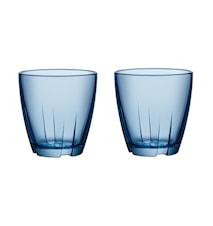 Bruk Blå Dricksglas Liten 2-pack