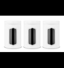 Opbevaringsbeholder med vindue 1.4 Ltr x 3 White