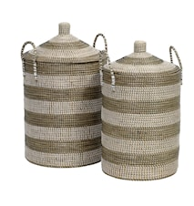 Seagrass vaskekurv 2 st