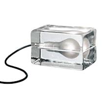 Block Lampe med tekstilledning Sort