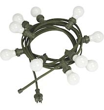 Bright light string m. pære opal 7m