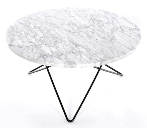 O table soffbord - carrara marmor/svart