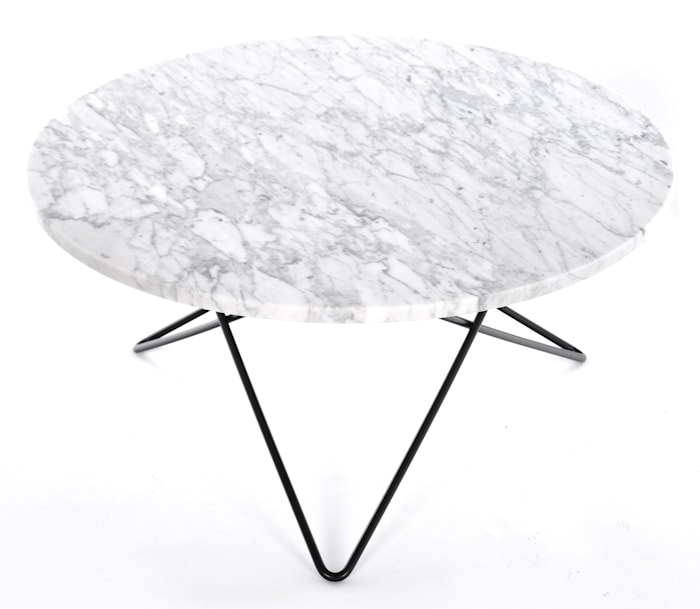O table sofabord - marmor/svart