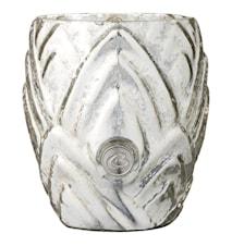 Värmeljuslykta Dalia 10,5 cm Silver