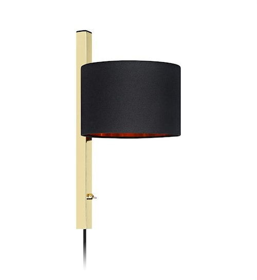 Pullman Vägglampa 1L Brass/Black