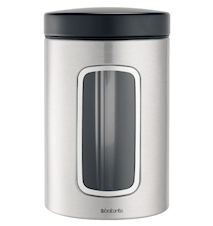 Storage jar with windows 1.4 Liter Matt Steel / F.P.P.