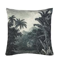 Tyyny Painettu Kuvio Jungle Musta/Valkoinen 45x45 cm