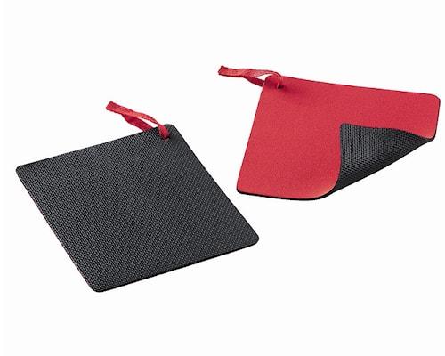 Duo Protector Grytelapp 15x15cm svart/Rød