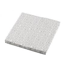 BLOSSOM Papperservetter Vit/Svart 20st