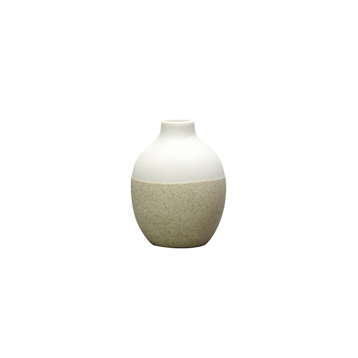 Vas Geometry Vit/Beige 10cm