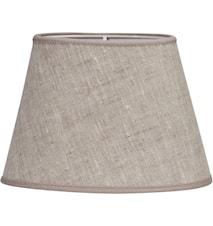 Oval Lampeskærm Linned Lysebeige 20 cm
